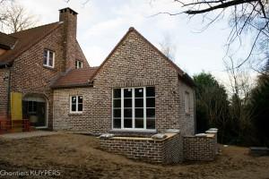Construction d'annexe en Brabant-Wallon réalisée par Chantiers Kuypers SPRL